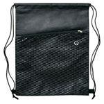 B561-Waves-Drawstring-Bag-Black