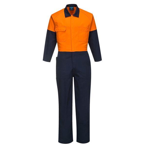 MW931-Regular-Weight-Combination-Coveralls-Orange-Navy