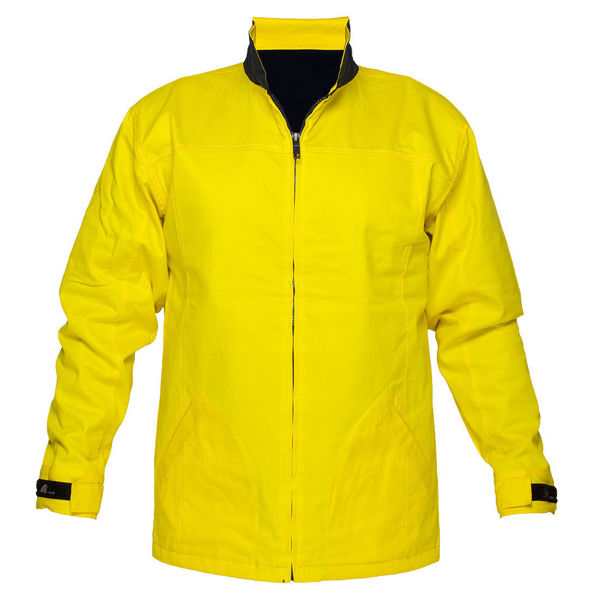 MJ288 -100%-Cotton-Drill-Jacket-Yellow