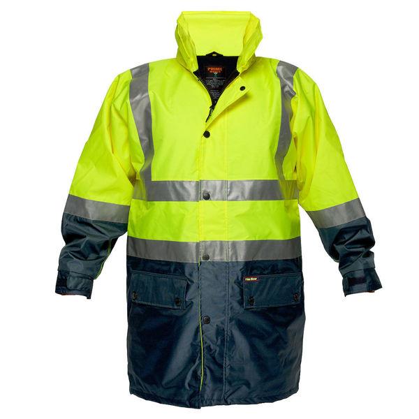 MJ208-Fleece-Lined-Rain-Jacket-Yellow-Navy