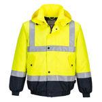 MJ204-Hi-Vis-Flying-Jacket-Yellow-Navy