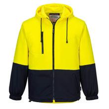 MH317-Water-Repellent-Brush-Fleece-Hoodie-Yellow-Navy