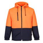 MH317-Water-Repellent-Brush-Fleece-Hoodie-Orange-Navy
