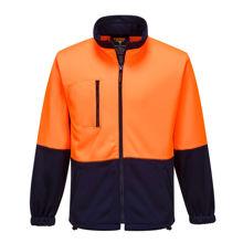 MH315-Water-Repellent-Brush-Fleece-Jacket-Orange-Navy