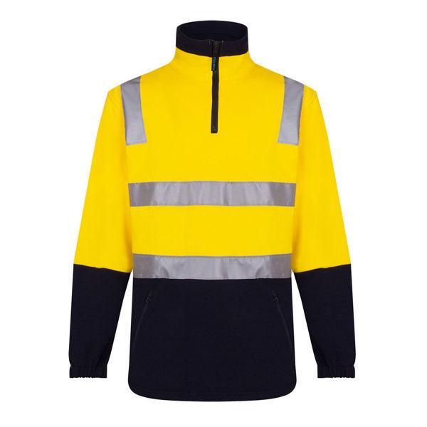 MF615-Cotton-Brush-Fleece-Jumper-with-Tape-Yellow