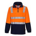 MF615-Cotton-Brush-Fleece-Jumper-with-Tape-Orange