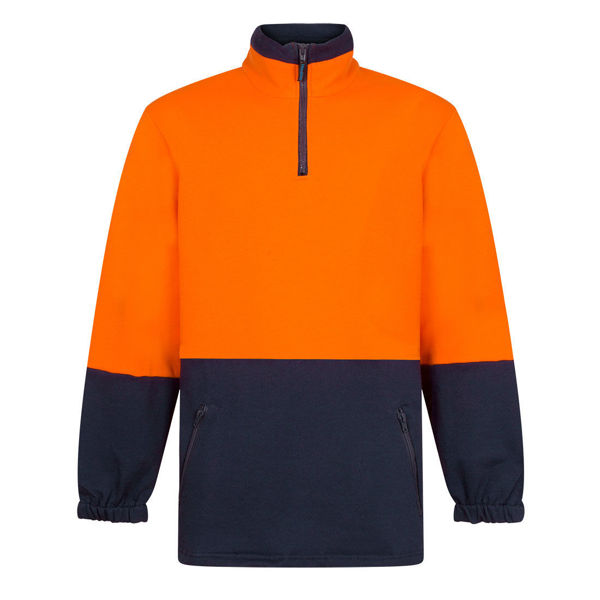 MF515-Cotton-Brush-Fleece-Jumper-Orange