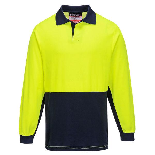 MF213-Long-Sleeve-Food-Industry-Cotton-Comfort-Polo-Yellow