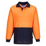 MF213-Long-Sleeve-Food-Industry-Cotton-Comfort-Polo-Orange