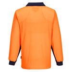 MF213-Long-Sleeve-Food-Industry-Cotton-Comfort-Polo-Orange-Back