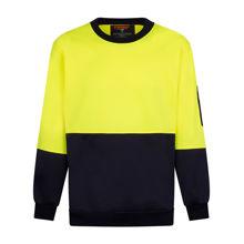 MF117-Crew-Neck-Single-Brush-Fleece-Jumper-Yellow