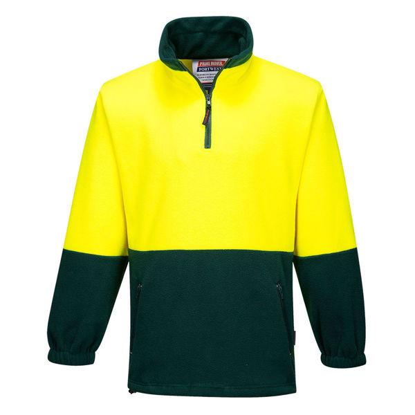 MF115-Polar-Fleece-Jumper-Yellow-Green