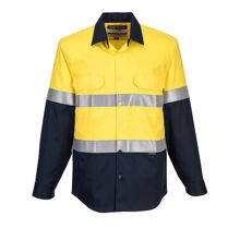 MF101-Flame-Resistant-Shirt-Yellow-Navy