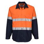 MF101-Flame-Resistant-Shirt-Orange-Navy