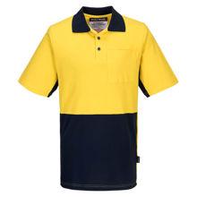 MD618-Short-Sleeve-Cotton-Pique-Polo-Yellow-Navy