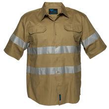 MA909-Geelong-Shirt-SS-Regular-Weight-Khaki