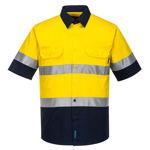 MA802-Hi-Vis-Two-Tone-Lightweight-Shirt-Yellow-Navy