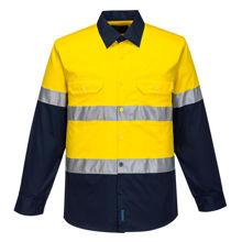 MA801-Hi-Vis-Two-Tone-Lightweight-LS-Shirt-Yellow-Navy