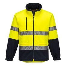 MA315-Water-Repellent-Brush-Fleece-Jacket-Yellow-Navy