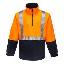 K8162-Utility-Polar-Fleece-Jumper-Orange-Navy