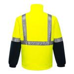 K8158-Convoy-Polar-Fleece-Jacket-Yellow-Navy-Back