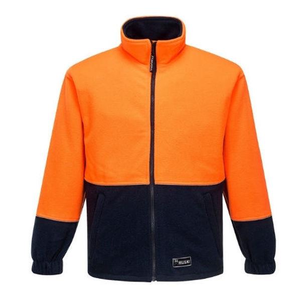 K8135-Asphalt-Polar-Fleece-Jacket-Orange-Navy
