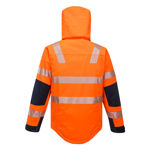 K8108-Shield-Jacket-Orange-Navy-Back