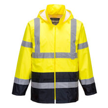 H443-Hi-Vis-Two-Tone-Rain-Jacket-Yellow-Navy