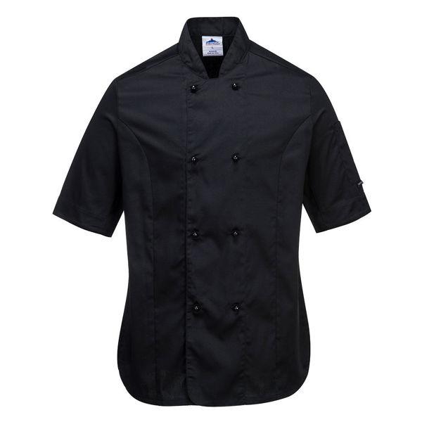C737-Rachel-Ladies-SS-Chefs-Jacket-Black