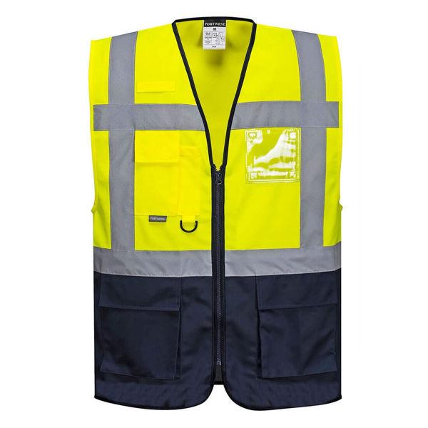C476-Warsaw-Executive-Vest-Yellow-Navy