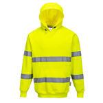 B304-Brush-Fleece-Hoode-With-Tape-Yellow
