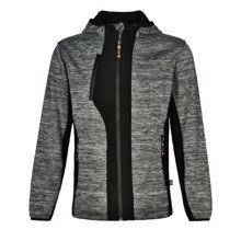 JK49-Laminated-Functional-Knit-Hoodie-Marl-Grey-Black