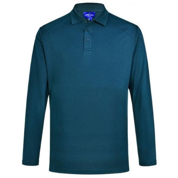 PS89-Lucky-Bamboo-Long-Sleeve-Polo-Men-Ocean-Blue