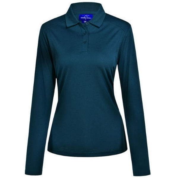 PS90-Lucky-Bamboo-Long-Sleeve-Polo-Ladies-Ocean-Blue
